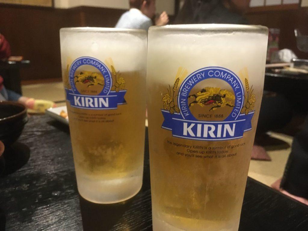 元祖もつ鍋 楽天地天神本店のビール