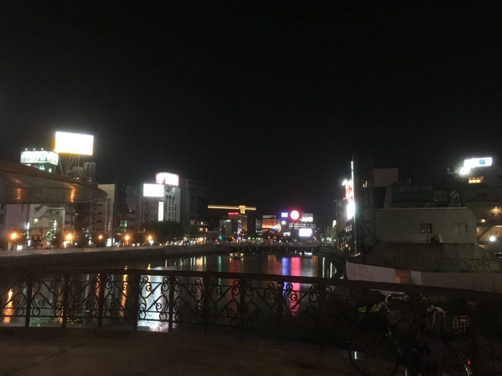 中洲の街並み