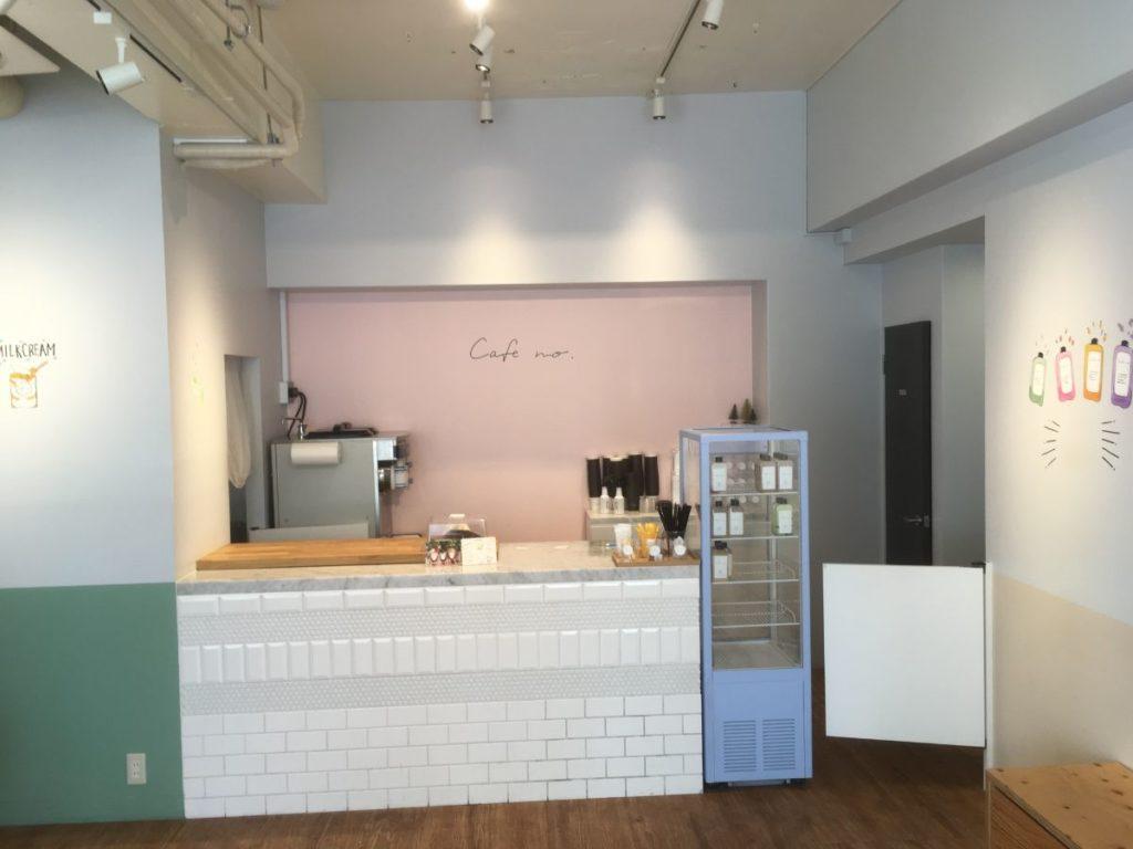 cafenoのカウンター