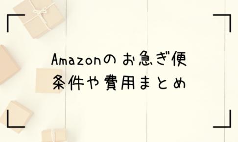 Amazonお急ぎ便のトップ画像